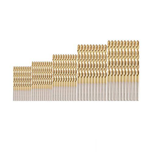 BOVER BEAUTY 50 Pc Brocas Brocas Profesional Determinado Conjunto De Acero De Alta Velocidad Mini Brocas para Madera De Acero De Plástico De Aleación De Aluminio (1.0-3.0mm)