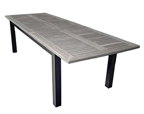 PEGANE Table de Jardin Extensible en Teck - Dim : 220/280 x 100 cm