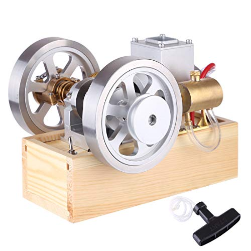 Yamix Horizontal Gas Engine Model with Hand Start Device, Metal Hit and Miss Engine Model Combustion Engine Model Toy