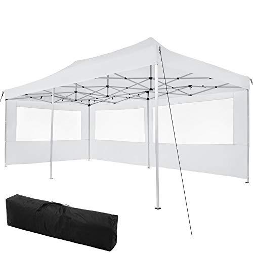 TecTake 800687 Carpa de Jardín 6 x 3m, Plegable, Aluminio, 100% Impermeable,...