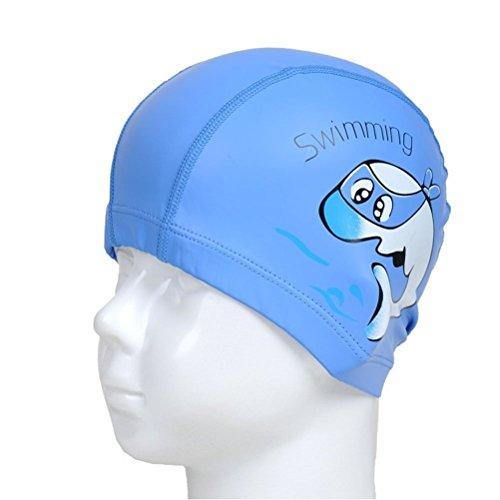 PIXNOR Badekappe für Kinder Wasserdicht Badekappe Ohrenschutz Stoffhaube