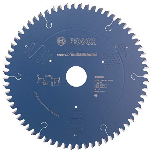 Bosch Professional Disco de sierra circular Expert for Multi Material (216 x 30 x 2,4 mm, 64 dientes, accesorio de sierra circular)