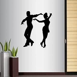 Wall Vinyl Decal Home Decor Art Sticker Silhouette Dancing Pair Partners Dance Tango Salsa Samba Studio Class Latino Room Removable Stylish Mural Unique Design For Any Room Creative Design Logo House