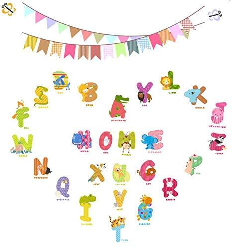 Generic JIFeng Tier Alphabet Buchstaben Wandaufkleber Kinderzimmer oder Klassenzimmer Dekoration