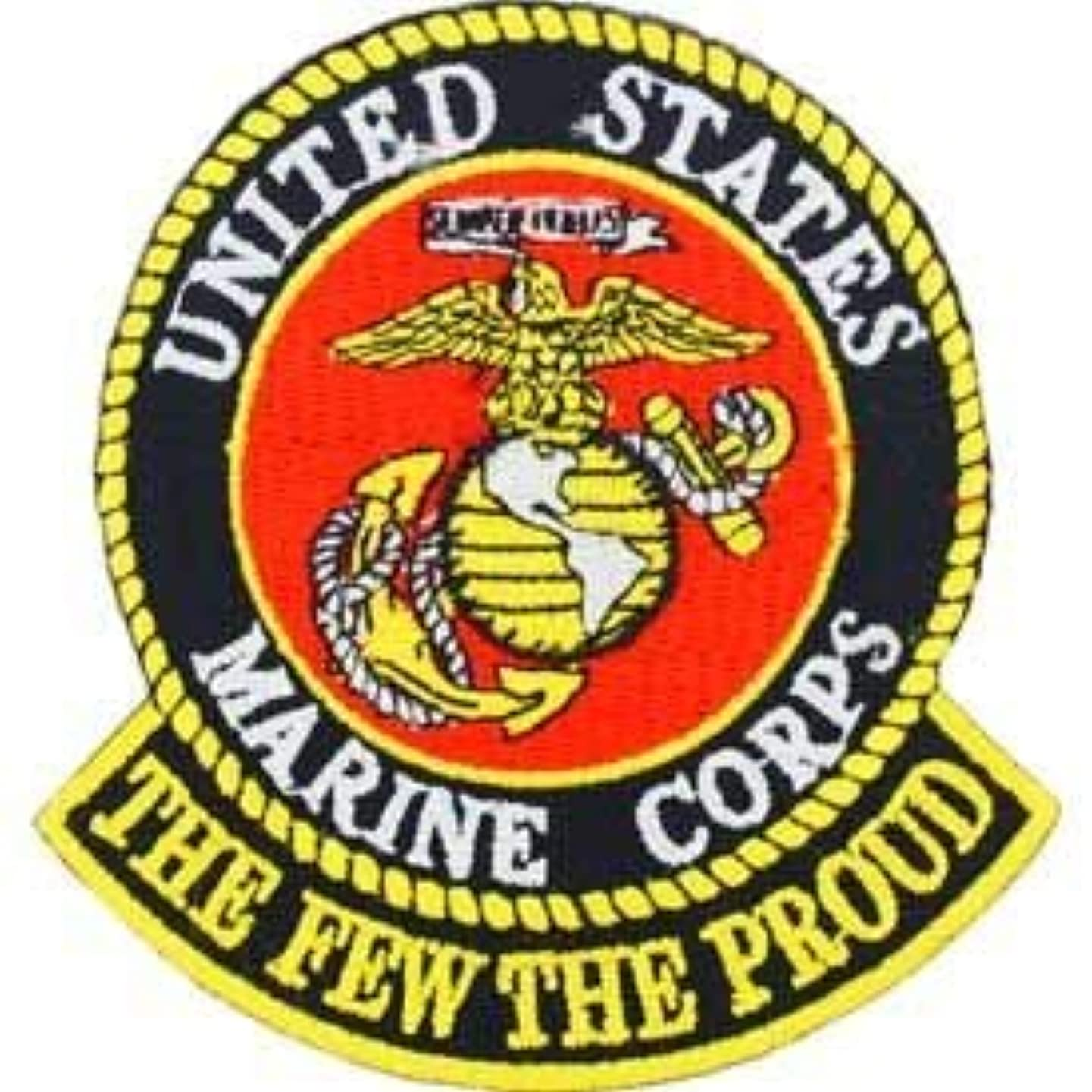 USMC, The Few The Proud - Embroidered Novelty Patches, Iron On Patch - 3
