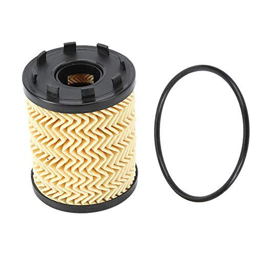 KIMISS Filtro de aceite del coche, Reemplazo del filtro de aceite del motor del coche para 124/500 / 500L / 500X 2012-2017 73500049