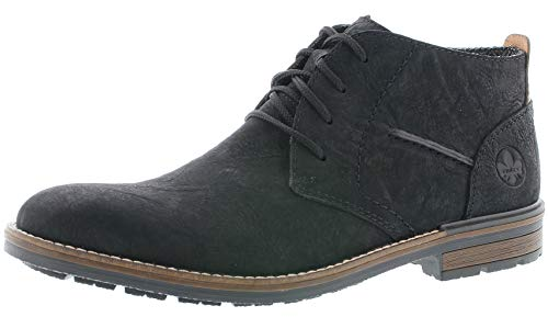 Rieker Herren Stiefeletten B1330, Männer Schnürstiefelette, Boot halb-Stiefel schnür-Bootie übergangsschuh Men,schwarz,45 EU / 10.5 UK