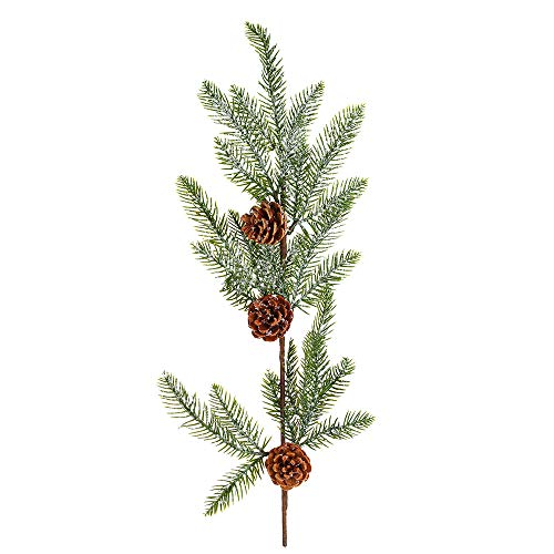 Lishuang Christmas Berry Artificial Pine Cone for Christmas Decoration Fake Flower Artificial Pine Tree Branch DIY Home Party Decor(7)