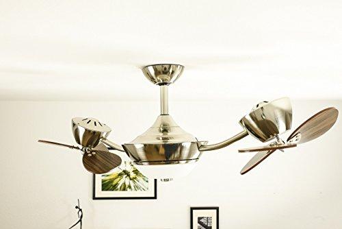 innovativer Energiespar Deckenventilator eFan 107 cm Walnuss inklusive Leuchte und Fernbedienung