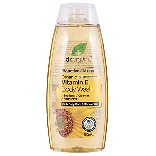 Dr Organic Bade- und Duschgel Vitamin E 250 ml, Preis/100 ml: 3 EUR