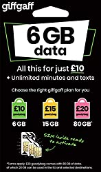 Our awesome triple SIM fits all phones (nano, micro and standard sizes). £10 of free credit is added when you topup your sim with £10 to activate it (by 31/10/17). Monthly bundles from just £5 or pay as you go. 4G data as standard. Enjoy free calls &...