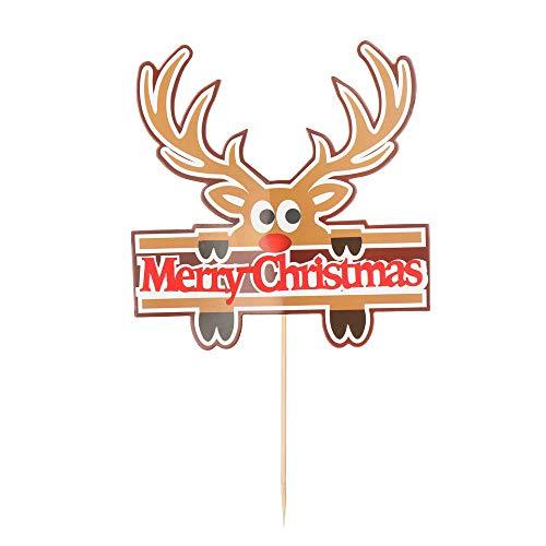 Citroen-Land Leuke Feestdecoratie Kerstboom Gelukkige Verjaardag Dessert Decoraties Kerstman Cupcake Decor Taart Toppers 1
