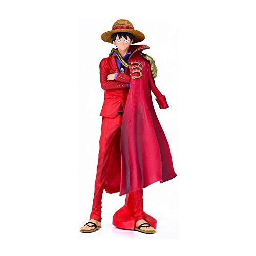 Wsjdmm One Piece Monkey D. Luffy Muñeca 20 Aniversario Permanente de Vestido Rojo Capa Sonrisa Luffy Mano de PVC Modelo Decoración de la muñeca del Regalo de cumpleaños Hermoso en Caja Alta 25cm