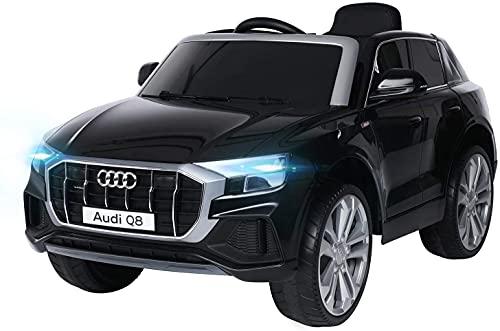 Actionbikes Motors - Auto elettrica per bambini (nuovo Audi SQ8 4M) - Licenza – motore 2 x 45 watt - telecomando da 2,4 GHZ - per bambini da 3 – 6 anni (Nero)