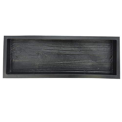 Luluspace Molde de hormigón para encofrado, vetas de madera simuladas de madera, tabla de salto de adoquines, para caminos, caminos, caminos, placas de jardín, placas de hormigón