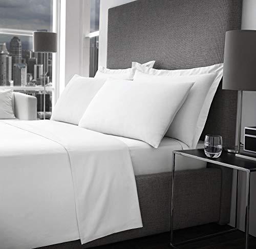 EHD 500 hilos 100% algodón egipcio súper suave sábana bajera ajustable (sábana bajera de tamaño king blanco).