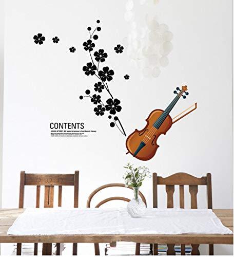Wandaufkleber Sticker Wandaufkleber Wohnzimmer Schlafzimmer Tv Hintergrund Blumen Hochzeit Raumdekoration Violine
