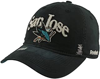 San Jose Sharks Garment Wash Adjustable Slouch Hat - Black