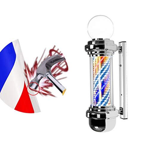 Poste de Barbero Giratorio Impermeable Para Peluquería, Hair Salon Super Bright LED...