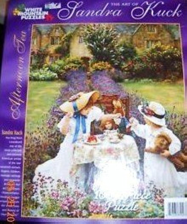 marcas en línea venta barata The Art of Sandra Kuck 1000 Piece Puzzle Afternoon Afternoon Afternoon Tea by blanco Mountain Puzzles  grandes ofertas