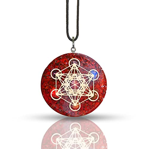 ABHISUBYA Red Recommended Jasper Metatron Sales for sale Merkaba Sacred Orgonite P Geometry