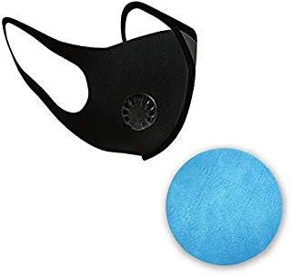 DishyKooker Cover mouth and face Dust with 2 Filters Breathable Reusable Washable Face Anti for Outdoor Dust Germs Allergies Pollution Valve dust round cushion,for Baby Kids Adult and Home