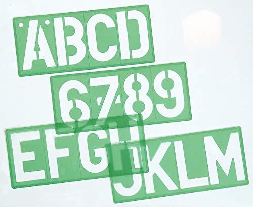 Linex 100411051 lettersjabloon 85100 letterhoogte 100 mm, letters, cijfers en symbolen in groot, 10 stuks per set