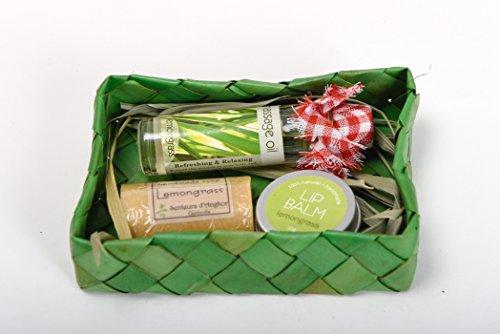 Tous les Naturel Citronnelle Ensemble cadeau – Huile de massage, Savon, Baume à lèvres