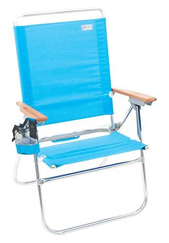 """Rio Brands Beach Hi-Boy High Seat 17"""" Folding Beach Chair (ASC642-72-1)"""
