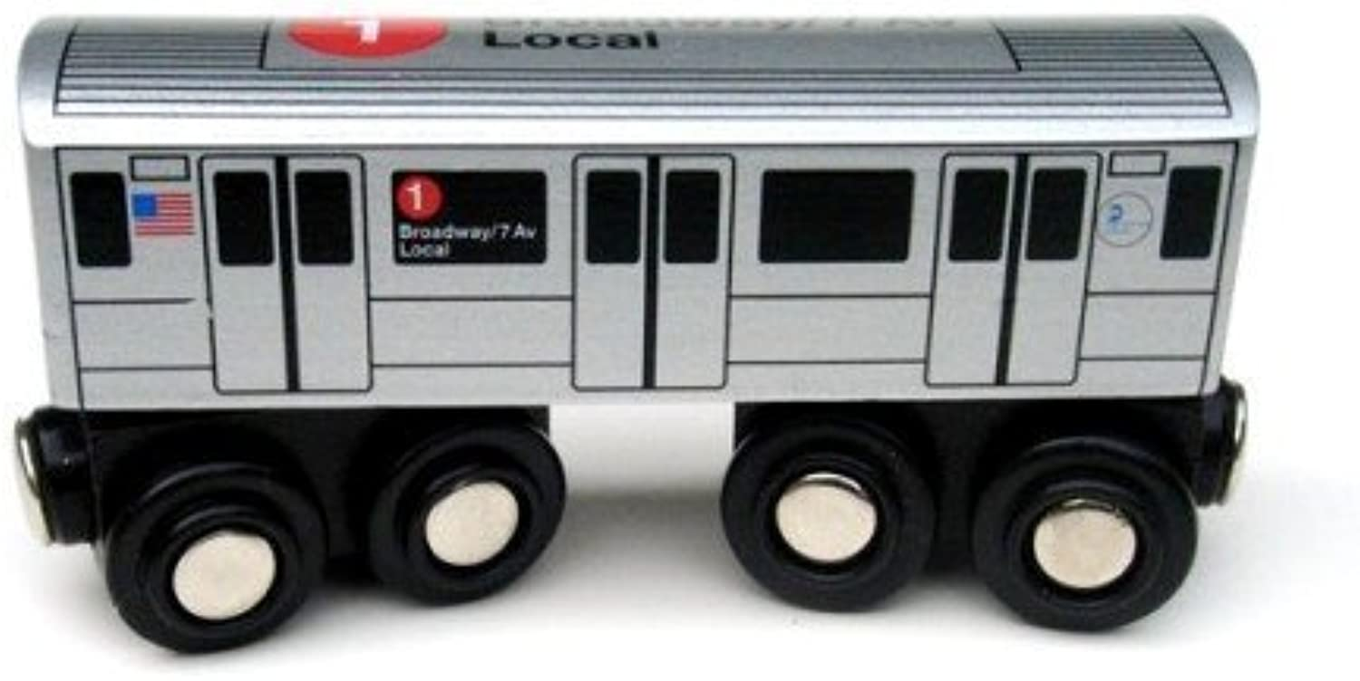 Munipals NYC Subway 1 Car Toy Train Wooden Railway Compatible by Munipals