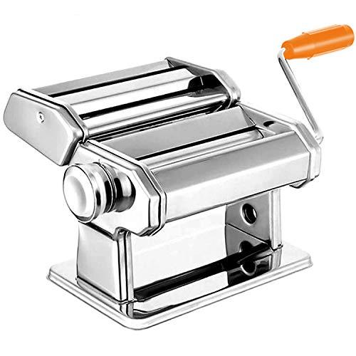 Hengda Nudelmaschine Manuell Edelstahl Cutter mit Klemme Nudel Maschine Pasta Maker für frische Fettuccine Spaghetti Lasagne Teigrolle Cutter Nudelmaschine