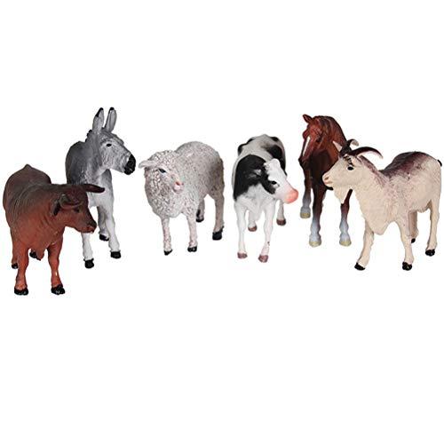 Toyvian Mini Juego de Juguetes de Animales de Bosque, 6 Piezas de plástico Animales de Granja Modelos