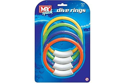 Unibos Underwater Fun Ringe Schwimmen Tauchen sinkend Pool Spielzeug Ringe für Kinder