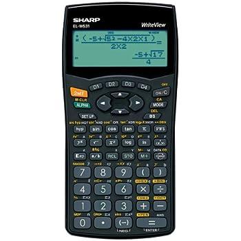 Sharp WriteView Calculator Scientific Battery-power 4-line 335 Functions 2-key Rollover - Ref ELW531B