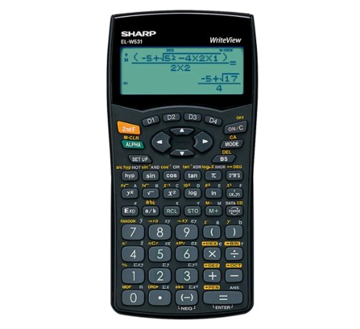 甘くするメンタル浮浪者Sharp WriteView Calculator Scientific Battery-power 4-line 335 Functions 2-key Rollover - Ref ELW531B