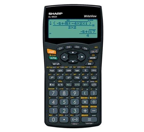 Sharp Réf ELW531B WriteView Calculatrice scientifique Alimentation par piles Affichage sur 4 lignes 335 fonctions (Import Royaume Uni)