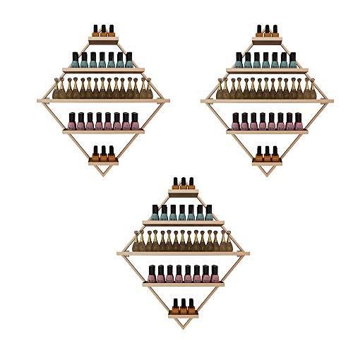 Montaje En La Pared Expositor de Esmalte de Uñas de Metal Caja de Almacenamiento, Tienda de Uñas Expositor de Esmalte de Uñas de 5 Capas Estante de Almacenamiento de Perfume / Aceite Esencial