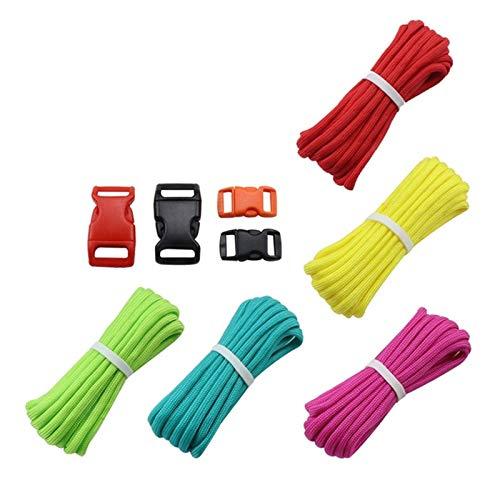 7 Strand Paracord Hebillas Kit Cordón de paracaídas Cuerda de cordón para bricolaje Pulsera trenzada Camping Cuerda de escalada Senderismo Cuerda de senderismo2