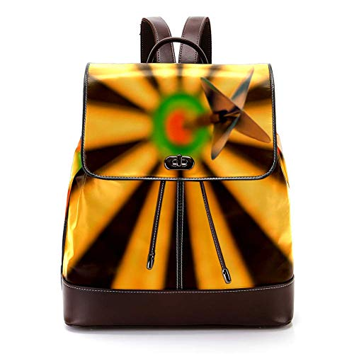 TIZORAX Darts, Dartscheibe, Bull-Eye, Sport PU Leder Rucksack Fashion Schultertasche Rucksack Reisetasche für Frauen Mädchen