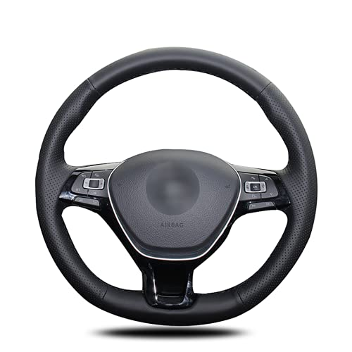 XIAHUAIREN Funda para volante de coche, color negro, para Volkswagen Golf 7 Mk7 Polo Passat B8 Tiguan Sharan Jetta