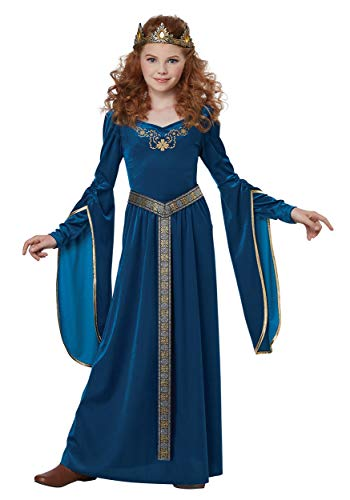 Medieval Princess Girls Costume Large