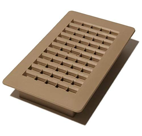Decor Grates PL408-TA 4-Inch by 8-Inch Plastic Floor Register, Taupe -  Decor Grates (Import)