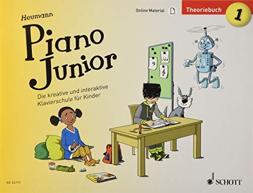 Piano Junior: Theoriebuch 1: Die kreative und interaktive Klavierschule für Kinder. Band 1. Klavier. Ausgabe mit verschiedenen Online-Materialien. (Piano Junior - deutsche Ausgabe)