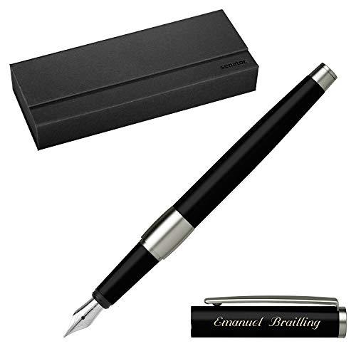 Senator Füllfederhalter IMAGE BLACK LINE 0104 mit Gravur und Geschenk-Etui