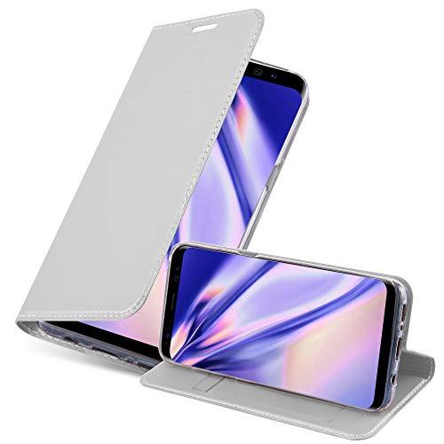 Cadorabo Funda Libro para Samsung Galaxy S8 en Classy Plateado - Cubierta Proteccíon con Cierre Magnético, Tarjetero y Función de Suporte - Etui Case Cover Carcasa