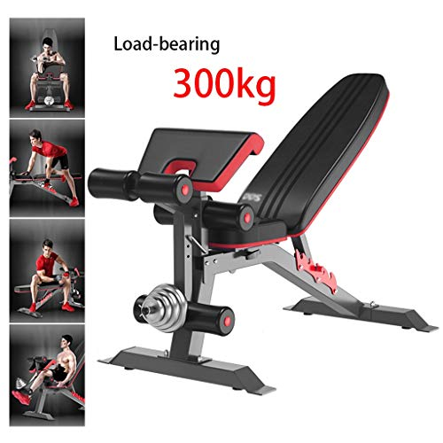 Krafttraining Hantel Hocker (mit Ausnahme von Hantel Stück) Sit-ups Fitnessgeräte Fitness-Stuhl Gewichtheben Lager 300kg Multifunktions-Hantelbänke (Color : Black, Size : 140 * 50 * 106cm)