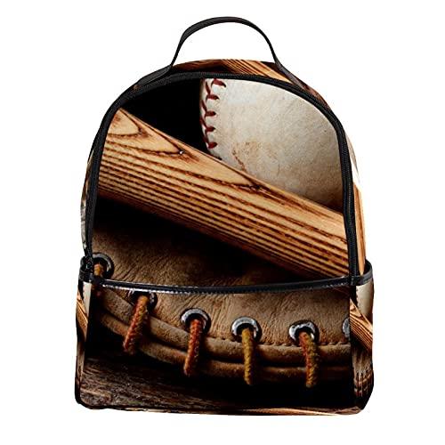 FURINKAZAN Bate de béisbol guante de cuero de la PU mini mochila monedero moda viaje mochila