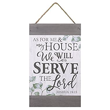 As For Me & My House Branches 11 x 18 Inch Solid Pine Wood Hanging Wall Banner