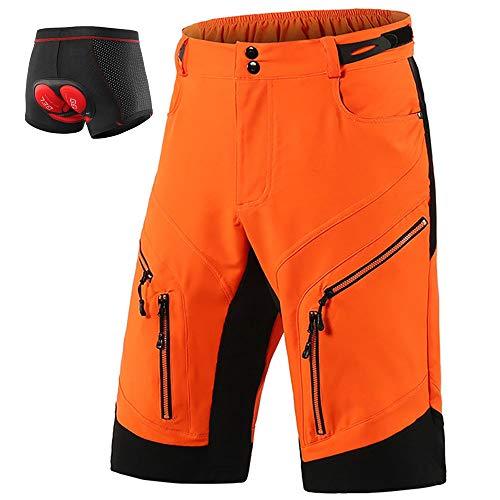 LXZH Bicicletas Mountain Bike Pantalones Cortos Hombre, Culotes Ciclismo MTB Pantalon Descenso,...