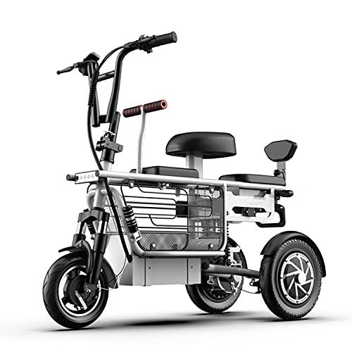 WUYANJUN Bicicletta elettrica da 12 Pollici a 3 Ruote, Bici elettrica di Anziani, Batteria al Litio e Bici, Scooter della Città, con Serratura elettrica, per la casa della Spiaggia